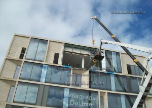 аренда вакуумной присоски(захват), замена стеклопакета в фасаде, вакуумный подъемник для стекла